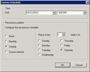 Custom Schedule