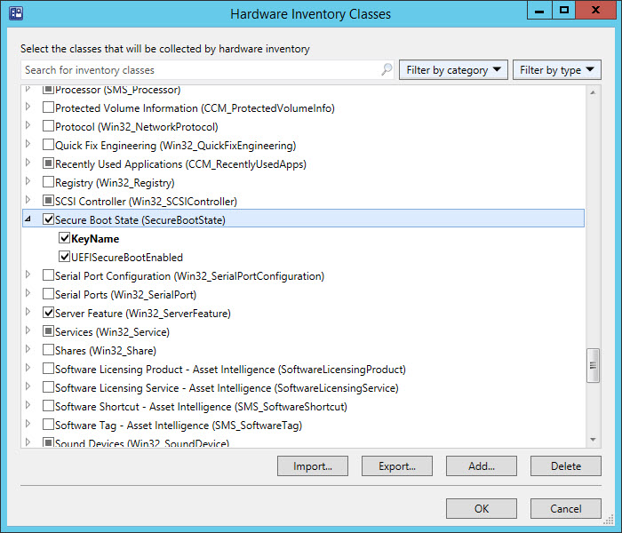 Inventory Secure Boot State and UEFI with ConfigMgr (4/5)