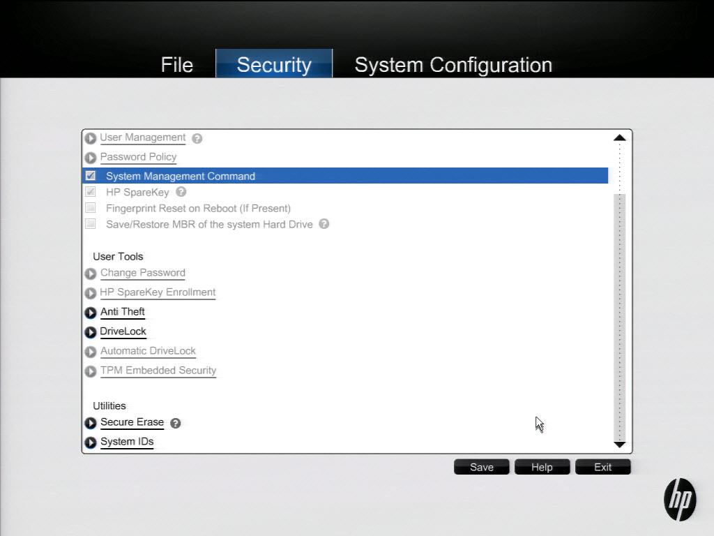 HP BIOS Screens | Mike's Tech Blog