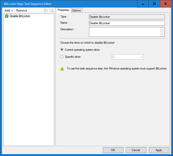 How to detect, suspend, and re-enable BitLocker during a Task