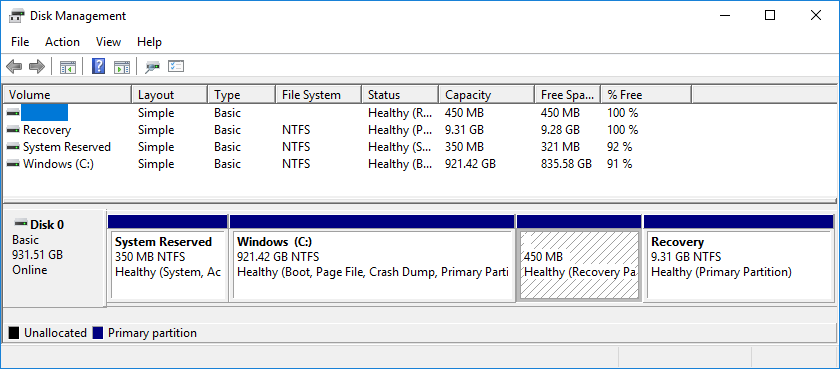 Configuration Manager OSD, Recovery Partitions and MBR2GPT