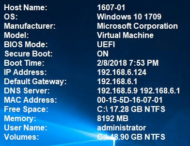 Adding Windows 10 Version, BIOS Mode and Secure Boot State to BGInfo
