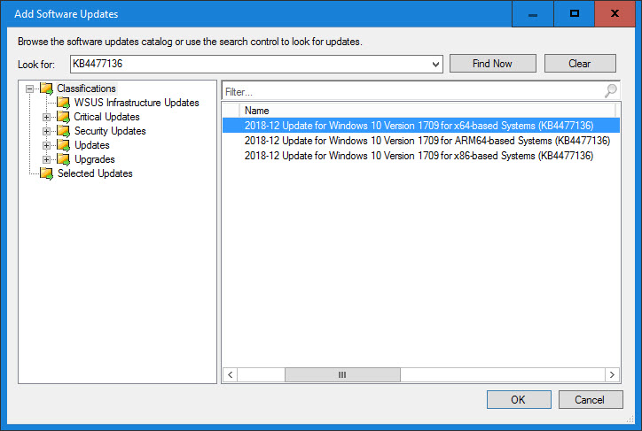 How to install a Win10 SSU before the LCU using Configuration